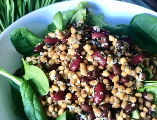 High Fibre Bean & Lentil Salad
